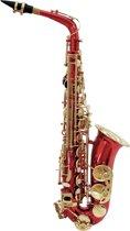 DIMAVERY Alto Saxofoon - Rood - SP-30 Eb - Inclusief koffer en accessoires