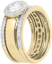 Trio Stackable Bands & Bezel ring WSBZ01150YWY