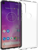 Accezz Clear Backcover Motorola One Vision hoesje - Transparant