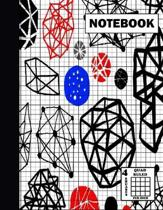 Notebook. Quad Ruled-4 Squares Per Inch: Grid Notebook/Grid Paper Journal 8.5x11 in. Graph Paper Composition - Figures