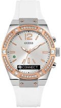 GUESS Connect - Hybride smartwatch - Wit - 43mm