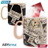 ONE PIECE - Mug Heat Change - 460 ml - Wanted - box