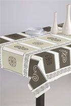 Luxe Stoffen Tafellaken - Tafelkleed - Tafelzeil - Freya Taupe - Hoogwaardig - Duurzaam - 140cm x 180cm