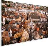 Indrukwekkende daken in de Franse stad Straatsburg Plexiglas 90x60 cm - Foto print op Glas (Plexiglas wanddecoratie)