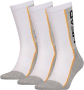 HEAD 3-pack unisex Performance Crew lang - wit-35-38