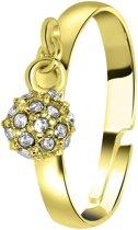 Lucardi - PINK - Goudkleurige byoux ring met bolletje