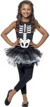 Halloween kostuum voor meisjes skelet met zwarte tutu - Verkleedkleding