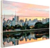 Sao Paulo zonsopgang Hout 60x40 cm - Foto print op Hout (Wanddecoratie)