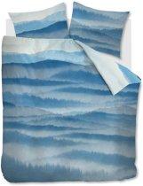 Beddinghouse Mountain View - Dekbedovertrek - Eenpersoons - 140x200/220 cm -  Blauw