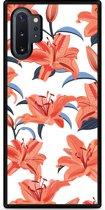 Galaxy Note 10 Plus Hardcase hoesje Flowers