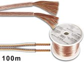 Velleman PLW215 audio kabel 100 m Transparant