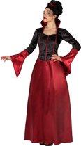 Rood en zwart Halloween kostuum van vampier voor dames - Volwassenen kostuums