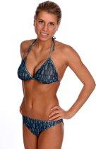 Sunselect zondoorlatende bikini - Funny Stripes - Maat 38