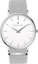 Wallace Hume Klassiek Wit - Horloge - Perlon - Grijs