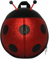 Peuter rugzak Lieveheersbeestje (Rood-Glitter-Tuigje)
