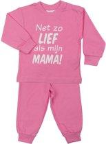 Fun2Wear Zo lief als mama Pyjama Pink maat 80