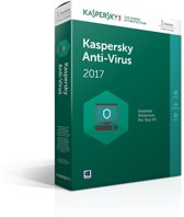 Kaspersky Anti-Virus 2017 - 1 Apparaat - Nederlands / Frans - Windows