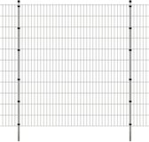 vidaXL Dubbelstaafmat 2008 x 2230 mm 16 m zilver 8 stuks