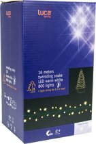 Luca Lighting snakelight deluxe 16m met 800 lampjes warmwit geschikt voor een 230cm boom IP44