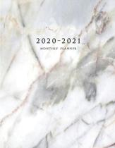 2020-2021 Monthly Planner: Large Two Year Planner with Marble Cover (Volume 2)