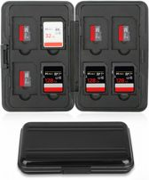 SD Kaart houder - 16 plekken - Waterdicht - Geheugenkaart houder  - Micro-SD kaart houder - Zwart