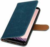 Bookwallet lederlook hoes Samsung Galaxy S8 Plus blauw