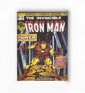 Marvel Comics - Canvas Schilderij - Iron Man - Zwart/geel - 50x70 cm