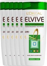 L'Oréal Paris Elvive Multivitamines 2 in 1 Shampoo - 6x250 ml - Voordeelverpakking