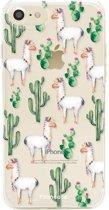 FOONCASE iPhone 8 hoesje TPU Soft Case - Back Cover - Alpaca / Lama