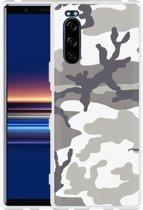 Sony Xperia 5 Hoesje Army Camouflage Grey