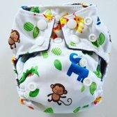 AN8 AIO Newborn wasbare Pocket luier dierentuin
