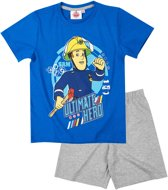 Brandweerman-Sam-Pyjama-met-korte-mouw-blauw-maat-98