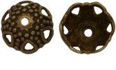 Beadcap (7 x 12 mm) 25 Stuks (Brons)