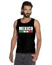 Zwart Mexico supporter mouwloos shirt heren - Mexico singlet shirt/ tanktop S