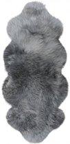Grijze schapenvacht XL – Kleed van schapenvacht- 1,5 vacht -Grijs