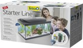Starter Line aquarium zwart led 54 Liter met filter en verwarming