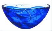 Kosta Boda Contrast Schaal blauw - D 350mm