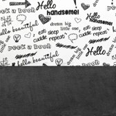 Laken Little Lemonade 120x150cm Quotes black/white