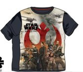 Star Wars shirt maat 128 grijs
