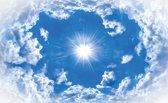 Fotobehang Lucht, Wolken   Blauw   312x219cm
