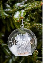 Let It Snow Silver Forest Ornament