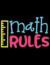 Math Rules: Weekly Homework Organizer Elementary, Middle and High School Academic Planner