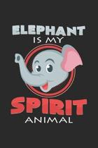 Elephant is my spirit animal: 6x9 Elephants - grid - squared paper - notebook - notes