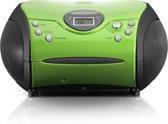 Lenco SCD-24 - Radio CD-speler met AUX-uitgang - Groen