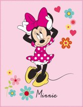 Disney Minnie Mouse Liberty - Plaid - 110 x 140 cm - Roze
