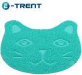 E-Trent – blauw Kattenbak mat voor Grit - Gritmatje – 30 x 40 CM - Waterdichte Kattenmat - Kattenmat voor thuis - Grit Opvanger - Katten Mat met Filter voor Grit - Katten matje - Kat accessoires - Katten accessoires - Kat benodigdheden - Mat voor bij