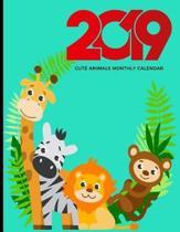 2019 Cute Animals Monthly Calendar