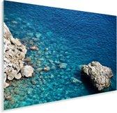 Transparante Italiaanse zee in Capri Plexiglas 90x60 cm - Foto print op Glas (Plexiglas wanddecoratie)