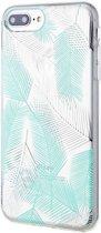 Roar iPhone 8 Plus Case Gel Tpu Color Silicone Green + Nano Screen Protector hoesje