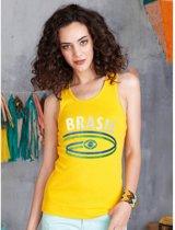 Gele dames tanktop Brasil S
